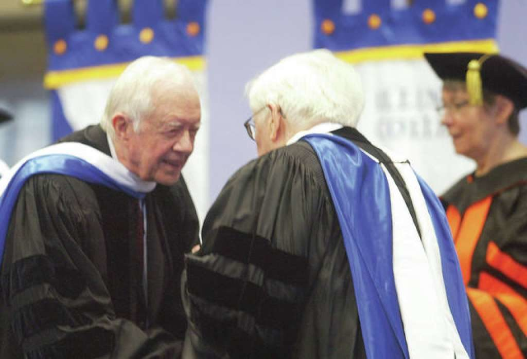 Paul Findley with Jimmy Carter