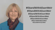 #IStandWithAlisonWeir is trending as the Twittersphere supports justice and free speech