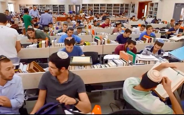 Students at the Bnei David pre-army academy.